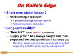 on knife s edge