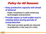 policy for all seasons27