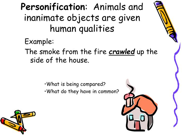 personification of inanimate objects