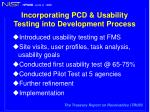 incorporating pcd usability testing into development process