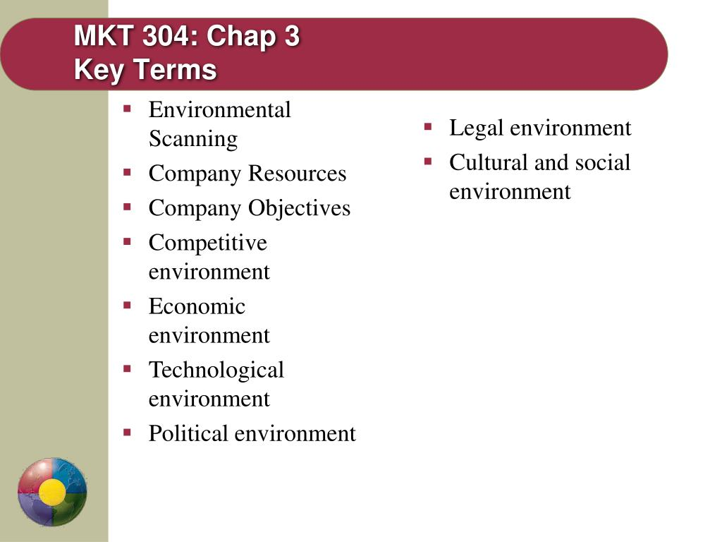 mkt 304 chap 3 key terms