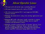 about openair linux3