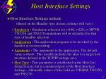 host interface settings24