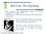 bell labs the beginning