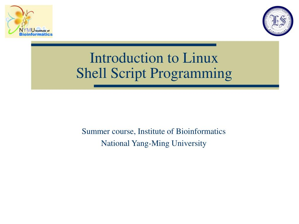 introduction to linux shell script programming l.