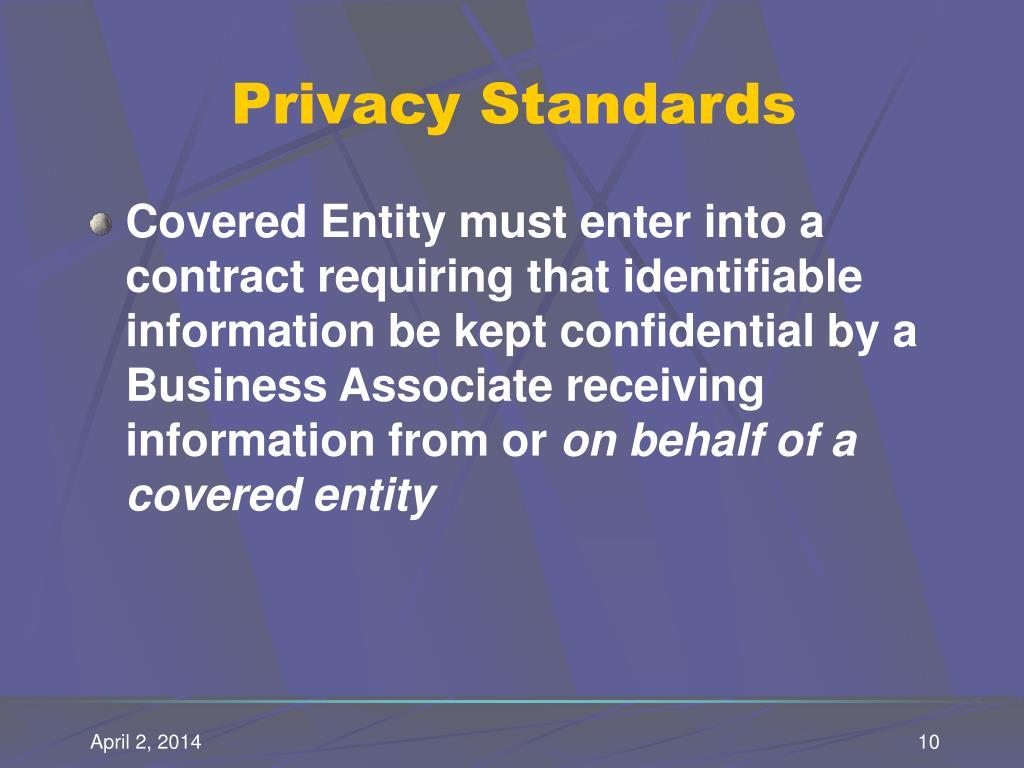 Privacy Standards