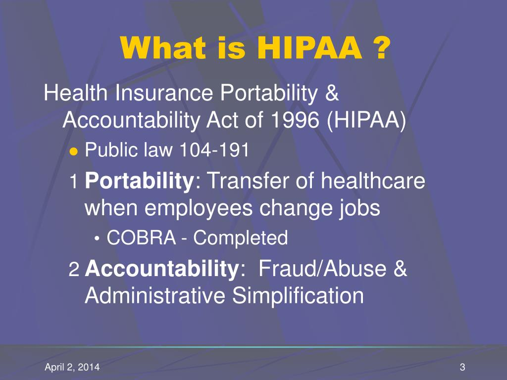 What is HIPAA ?