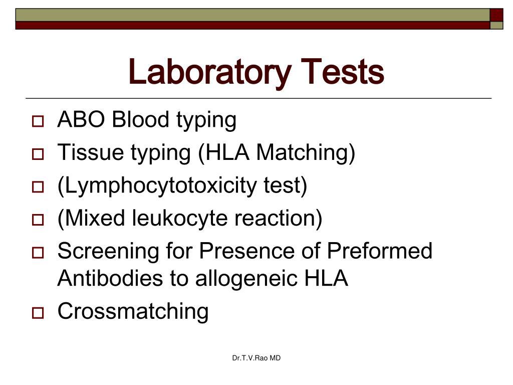 Laboratory Tests