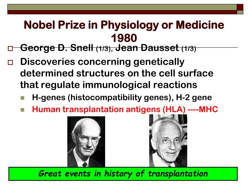 Nobel Prize in Physiology or Medicine 1980