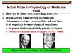 nobel prize in physiology or medicine 1980