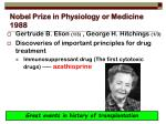 nobel prize in physiology or medicine 1988