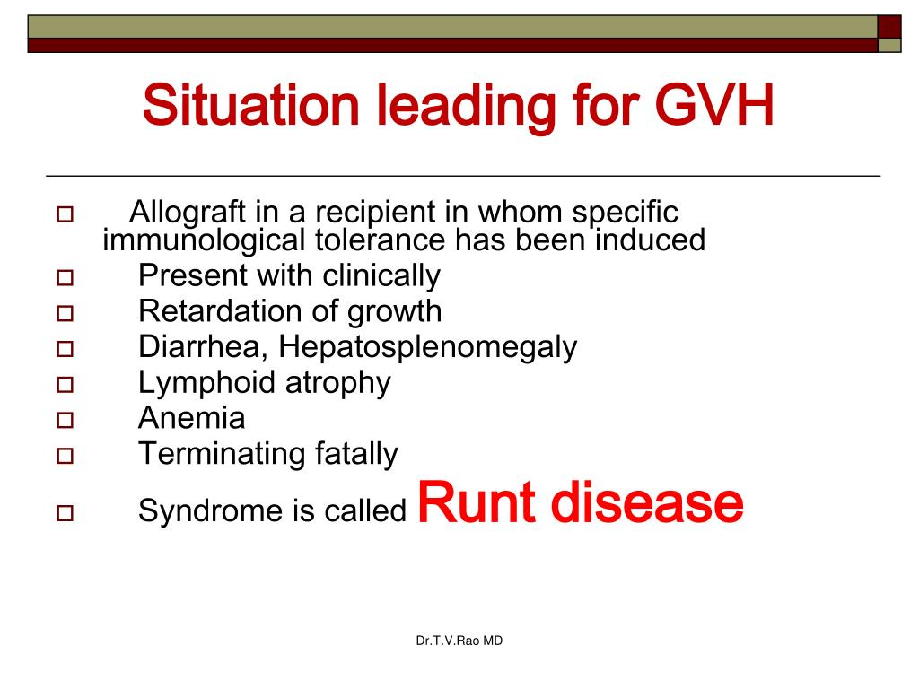 Situation leading for GVH