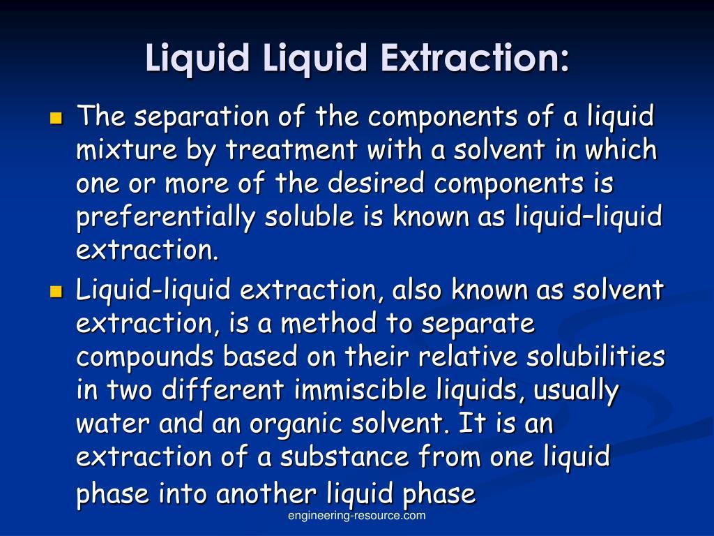 Ppt Liquid Liquid Extraction Powerpoint Presentation Free Download Id 685578