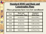 standard hmo and basic and catastrophic plans