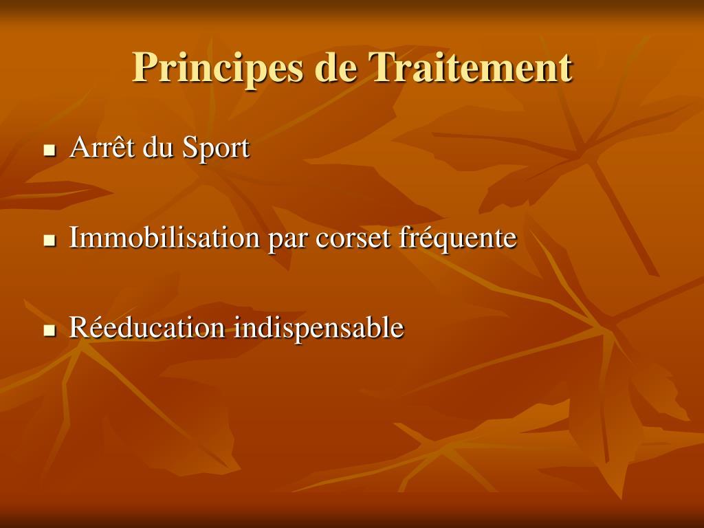 Principes de Traitement