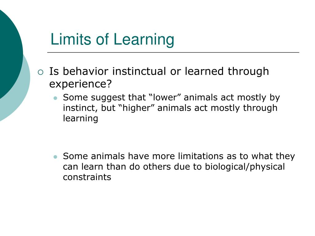 Limits of Learning