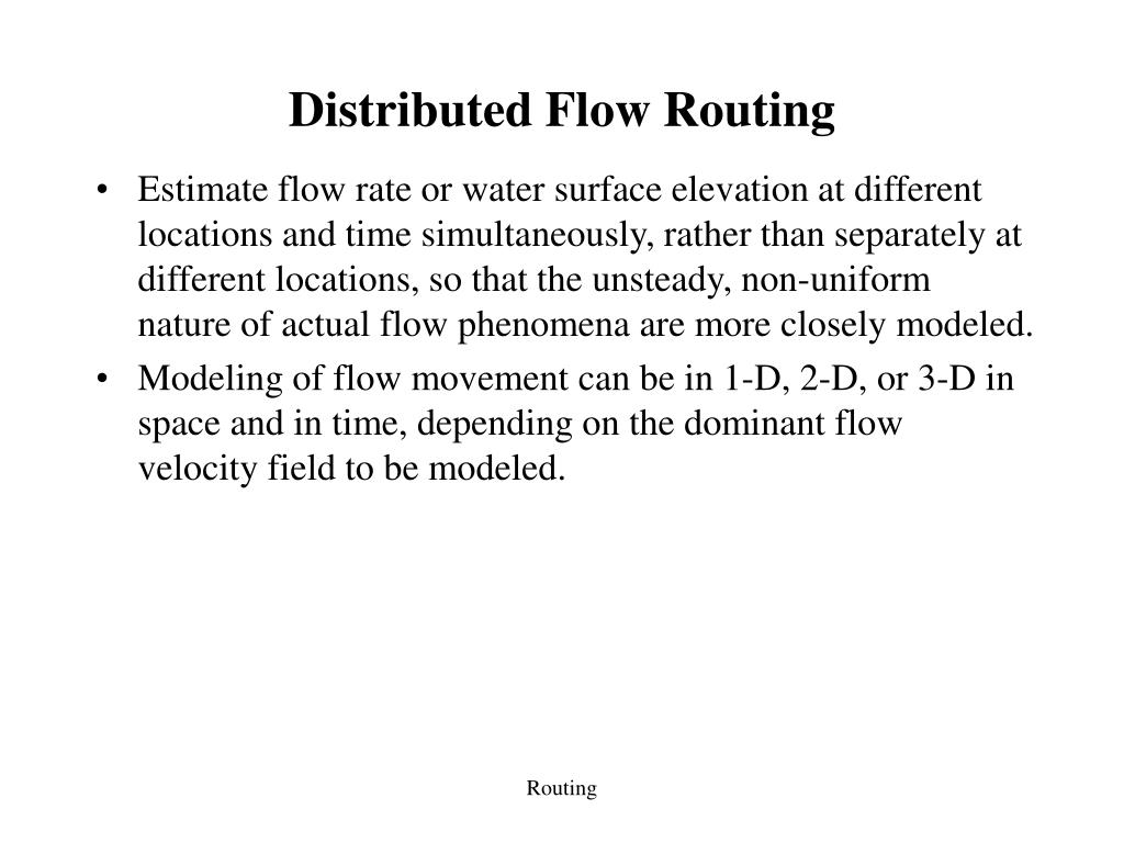 Distributed Flow Routing