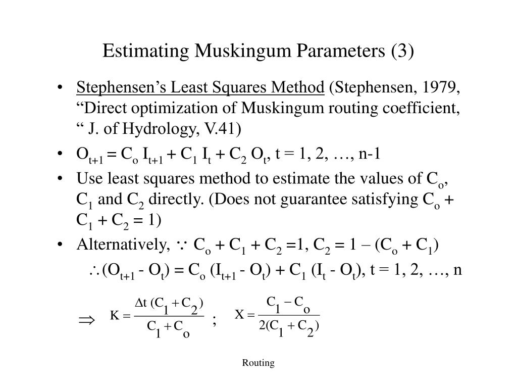 Estimating Muskingum Parameters (3