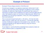 example of poisson