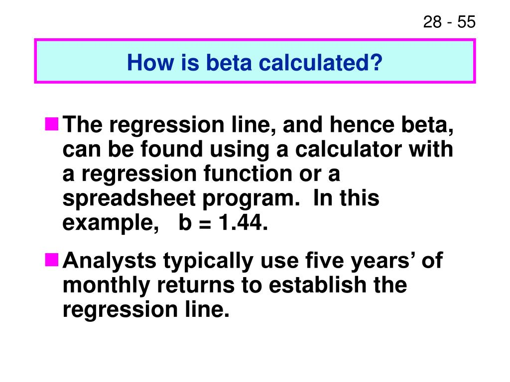 How is beta calculated?