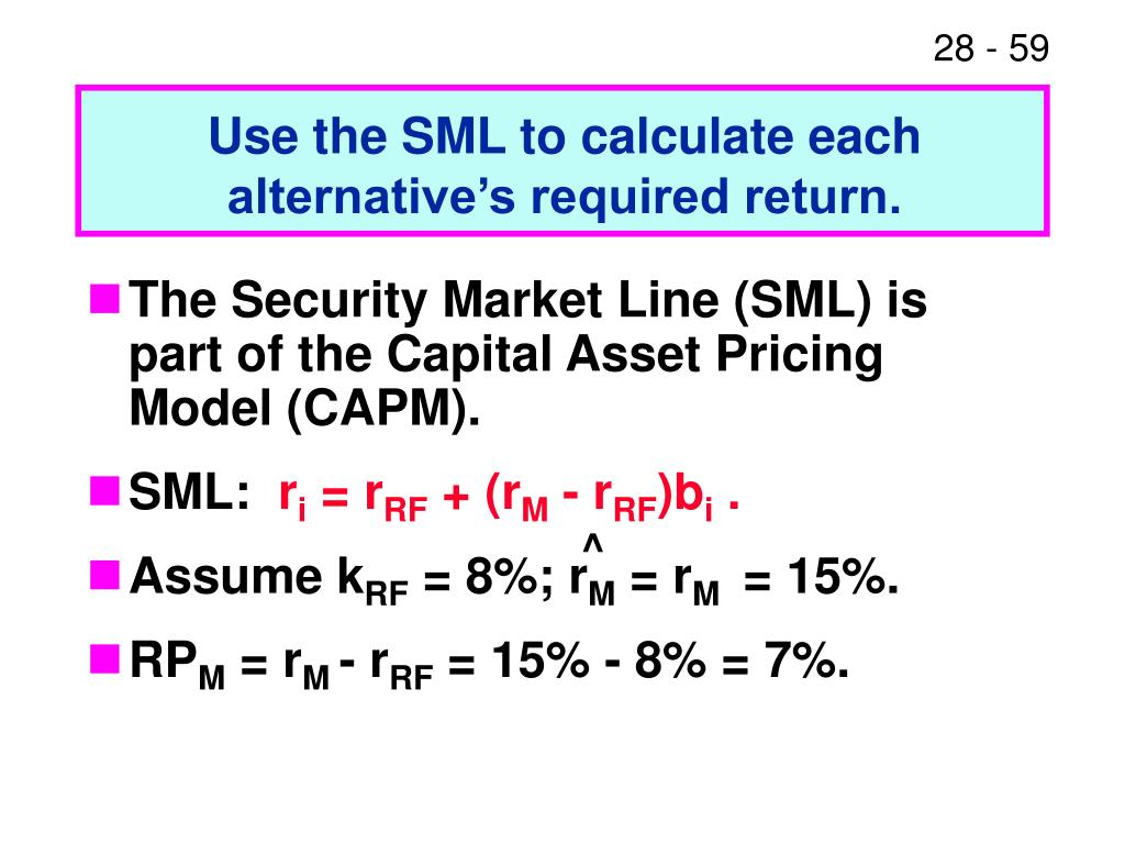 Use the SML to calculate each