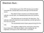 electron gun