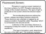 fluorescent screen