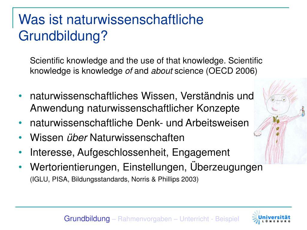 Was ist naturwissenschaftliche Grundbildung?