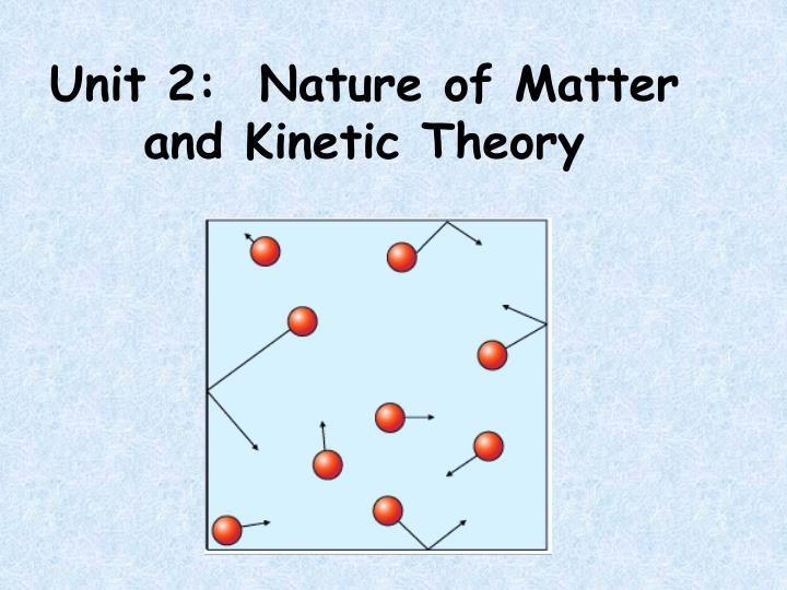 unit 2 nature of matter and kinetic theory n.