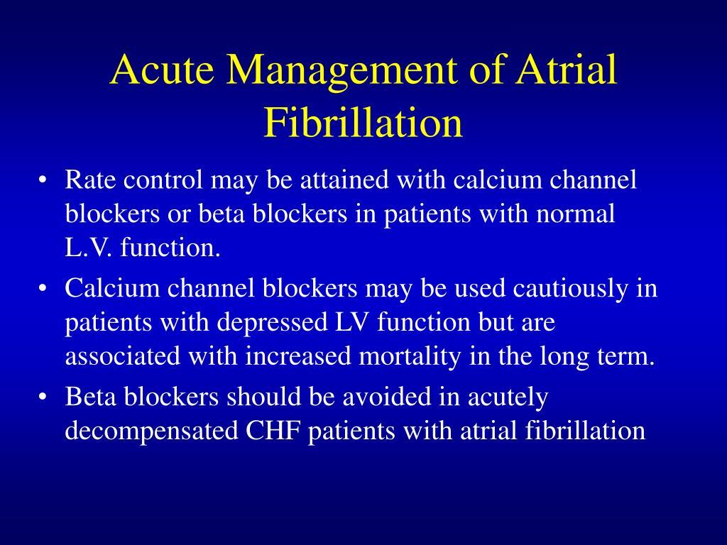 Acute Management of Atrial Fibrillation