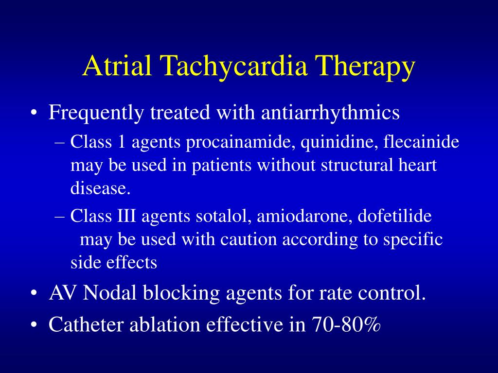 Atrial Tachycardia Therapy