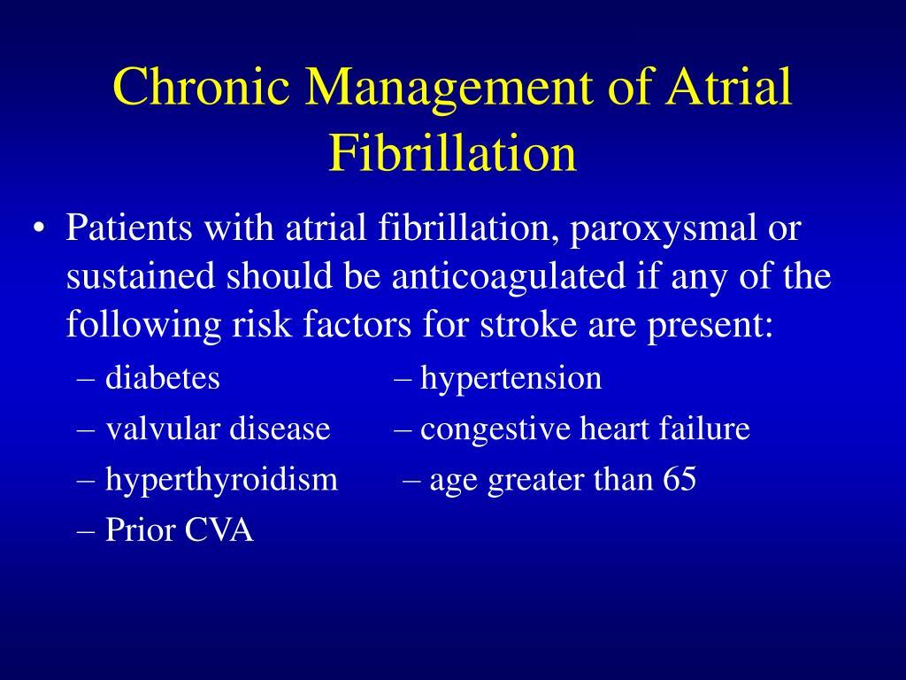Chronic Management of Atrial Fibrillation
