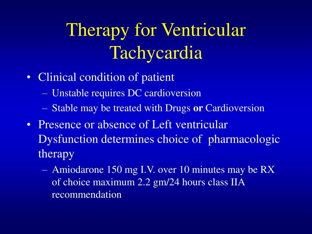 Therapy for Ventricular Tachycardia