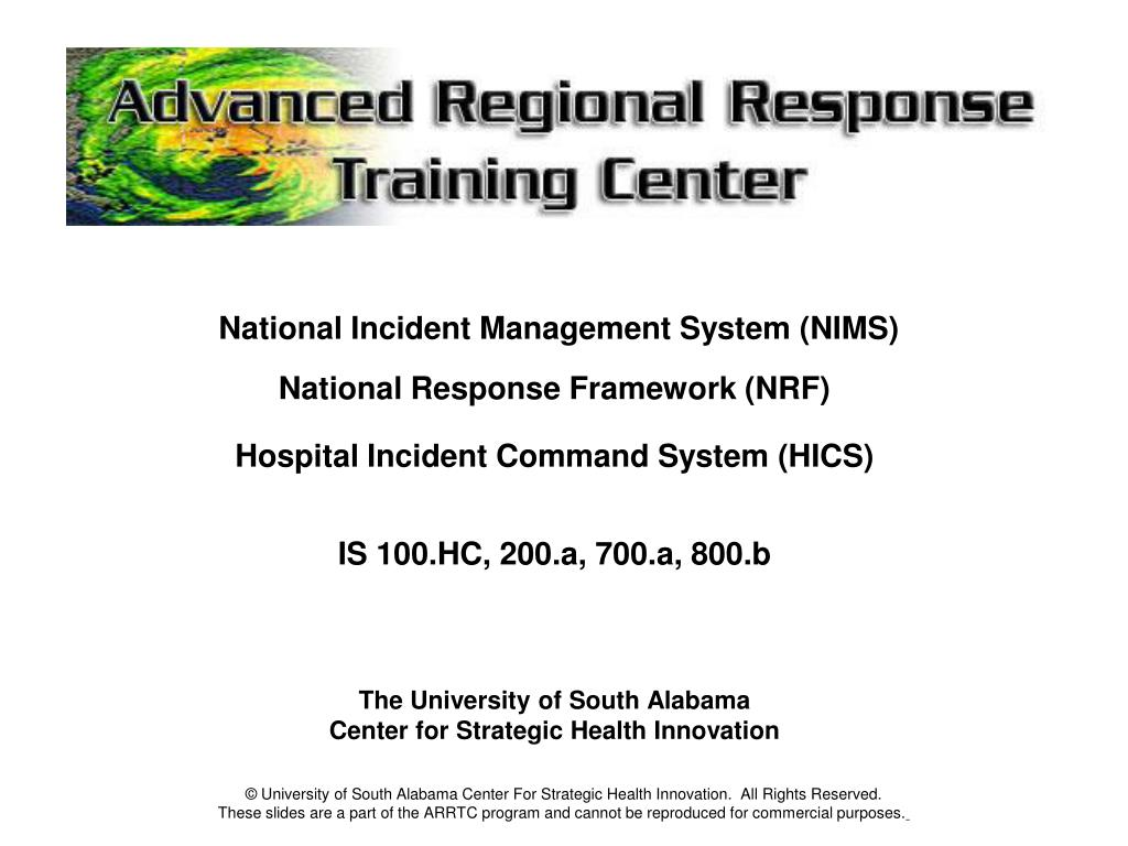 national incident management system The national incident management system (nims) is a comprehensive system that improves tribal and local emergency response operations through the use of the incident command system (ics) and the application of standardized emergency procedures and preparedness measures.