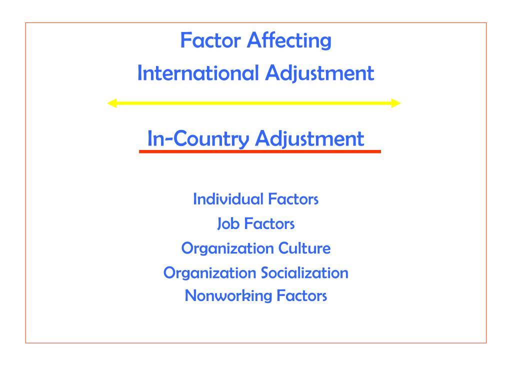 Factor Affecting