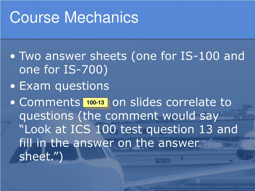 Nims 100 answer sheet