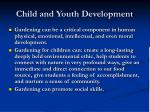 child and youth development