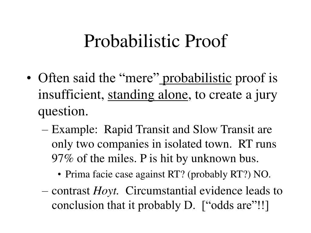 Probabilistic Proof