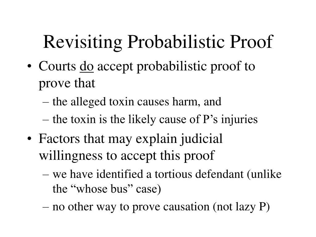 Revisiting Probabilistic Proof