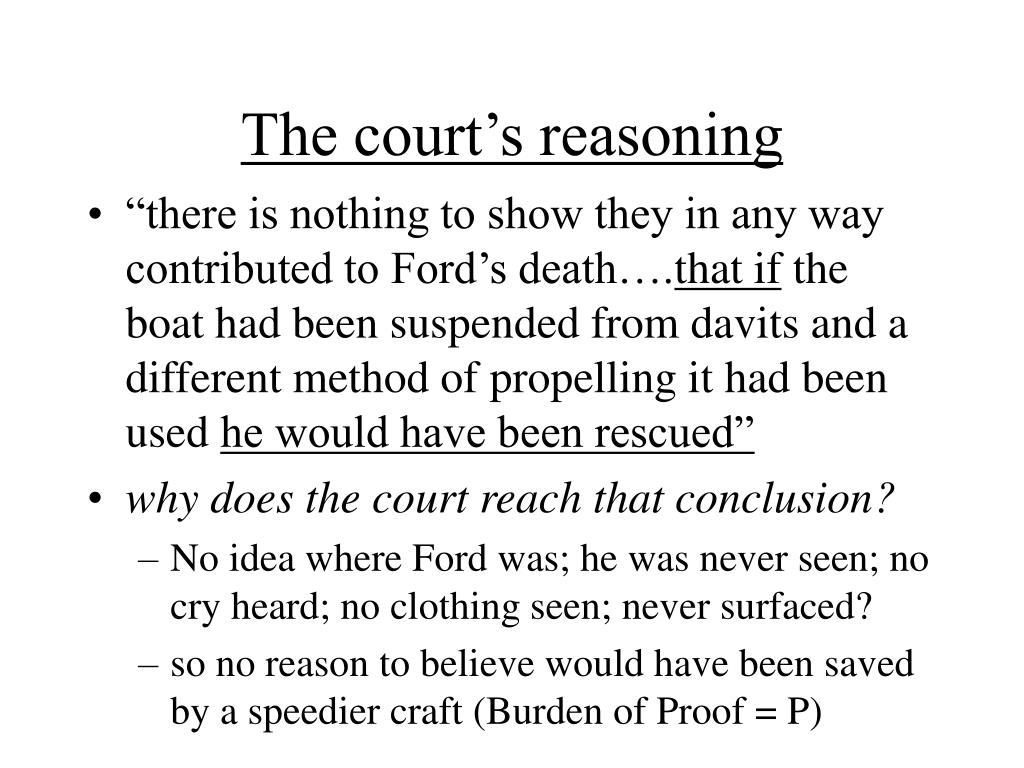 The court's reasoning