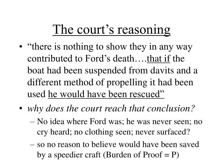 The court s reasoning