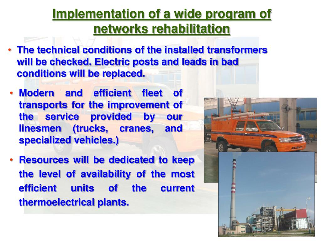 Implementation of a wide program of