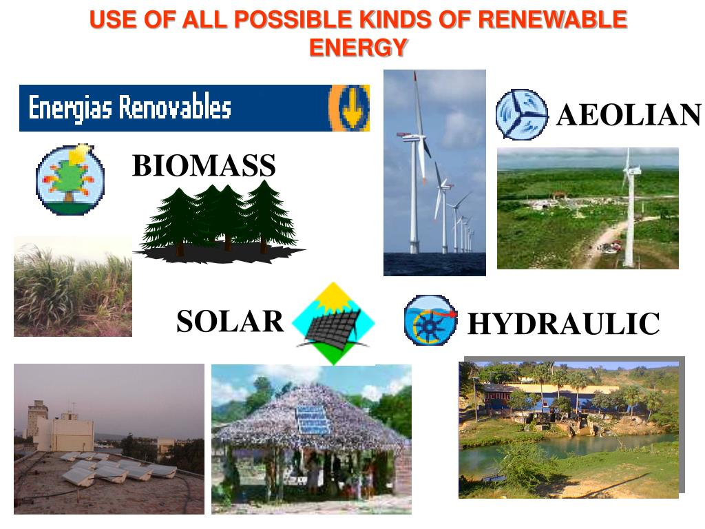 USE OF ALL POSSIBLE KINDS OF RENEWABLE  ENERGY