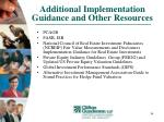 additional implementation guidance and other resources34