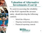 valuation of alternative investments cont d24