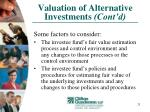 valuation of alternative investments cont d25