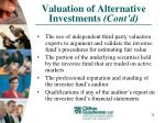 valuation of alternative investments cont d26
