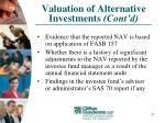 valuation of alternative investments cont d27