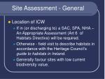 site assessment general