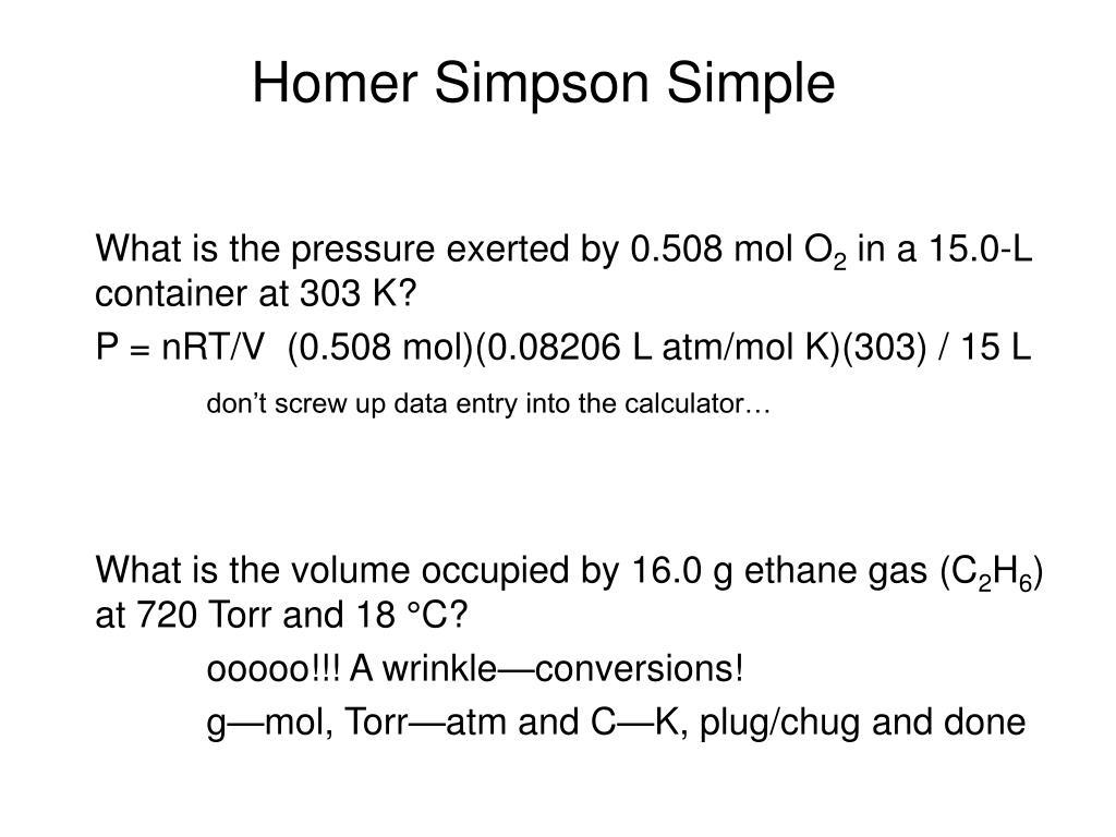 Homer Simpson Simple